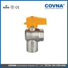 Alumínio alça angular full fluxo fêmea / macho isqueiro de gás válvulas