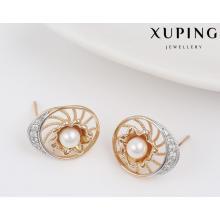 91616 Moda de alta calidad Multicolor CZ perla pendientes de joyería de imitación de la joyería