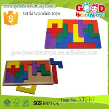 Juguetes educativos preescolares de alta calidad del bloque Juguetes coloridos personalizados Juguetes de madera de Tetris Juguetes de la construcción