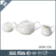 Design de flores pequena fina cerâmica branca elegante Inglês estilo chá conjuntos