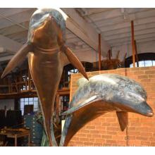 intérieur décor à la maison métal artisanat bronze dauphin sculpture