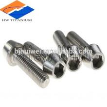 6AL4V Titanium Taper Head Socket Drive Cap Screw DIN912