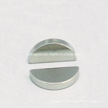 Semi-Circle Disc níquel imán para juguetes