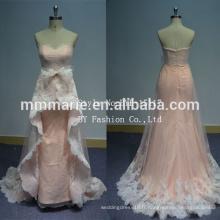 Robe de mariée à vendre en ligne trame de balayage sans manches illusion arrière tissu en dentelle pour vente de robe de mariée