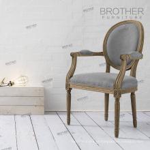 Cadeira de braço antigo francês louis moderno / francês cadeira de jantar