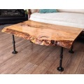 Rustic Pallet Coffee Table With Black Pipe Legs