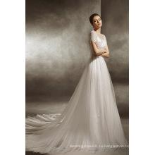 2017 Модный покрой и свадебные поток платье