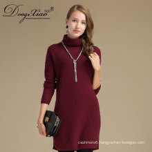 Girls Cowlneck Pullover Cashmere Long Sweater With Factory Supply Top Quality