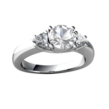 Fake Diamond CZ Stone Wedding Engagement Ring