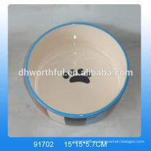Cachorros de cerámica personalizada al por mayor, alimentador de gato de cerámica en alta calidad