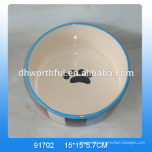 Personalized ceramic dog bowls wholesale,ceramic cat feeder in high quality