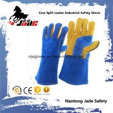 Fine Blue Cow Split Leather Industrial Safety Welding Work Glove