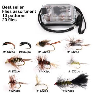 Atacado melhor variedade de variedade de moscas de pesca com mosca vendedor