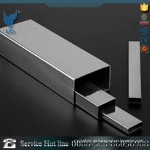 Tubo de acero inoxidable rectangular de 25 * 25mm 304 para la decoración interior