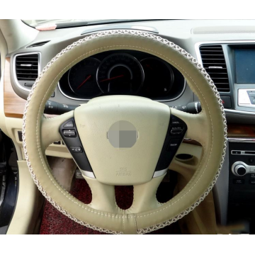 Ice silk pu leather steering wheel cover
