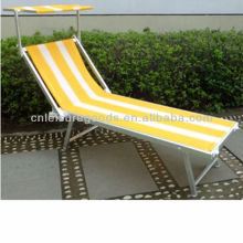 Corlorful folding lightweight chaise lounge with canopy