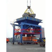Trémie anti-poussière pour le chargement et le déchargement de la cargaison en vrac
