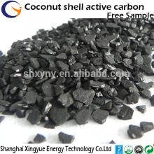 Approvisionnement d'usine haute valeur de l'iode granulaire noix de coco granulaire charbon actif prix du charbon actif concurrentiel en Inde