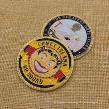 Fertigen Sie Metall-Nypd 60 Pct Sqd-Münze für Sammlung besonders an