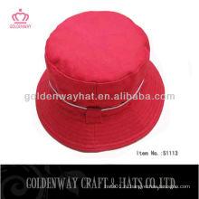 Модная красная ведро шляпа 2013 новый дизайн дешевый для продажи хлопок