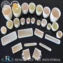 Прямоугольной формы высокой чистотой 99-99,7% керамические глинозема тигле лодка