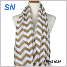 2015 Hot Sale Fashionable Girls Chevron Scarf