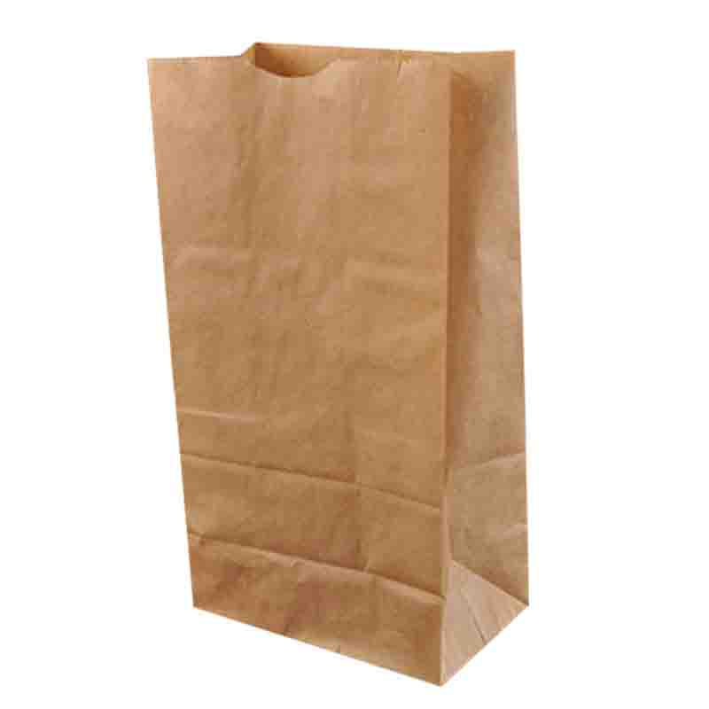 Portable food packaging paper bag