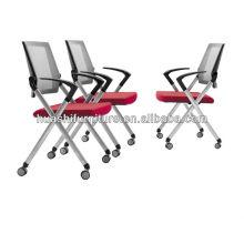 Nouvelle chaise de réunion de bureau de conception avec la maille en nylon / chaise empilable