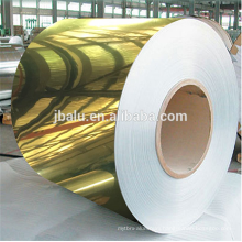 China gold silver colored mirror aluminum coil/strip for channel letter