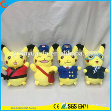 Hot Selling Novelty Design Stuffed Pokemon Go Plush Toy Pikachu Series Pocket Monsters
