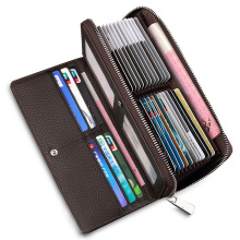 Accordion Organizer Leather Clutch Wallet Tarjetero