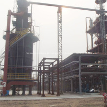 Planta de processo usada para refino de óleo de motor