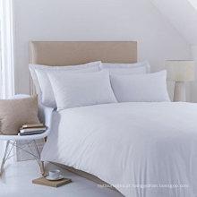 Lençóis de cama king size 100% algodão Roupa de cama branca para hotéis e hospitais