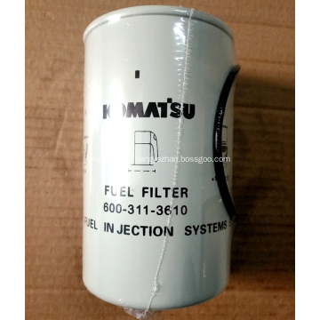 Filtre à carburant 600-319-3610 pour pelle Komatsu PC300-8