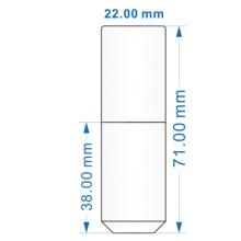 Mini plastic lipgloss tube with blue pattern