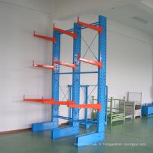Finition galvanisée AS 4084 Certificat Cantilever Rack / industriel en acier robuste bras rack
