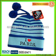 Proveedor de beanie hacer sombrero de bordado paris para Europa BN-2642