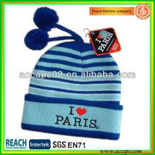 Fornecedor de Beanie faz chapéu de bordado Paris para a Europa BN-2642