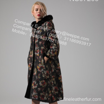 Lady Coat With Fur In Winter