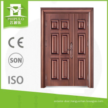 Good color son and mother copper imitating steel security main door