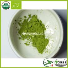 Polvo orgánico certificado del té verde de Matcha