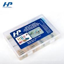 Caixas plásticas claras pequenas com as tampas para Shrink Soldersleeve