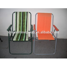 Metal frame chair,Folding picnic chair with stripe