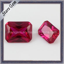 Vente en gros Rectangle Cut Synthetic Ruby