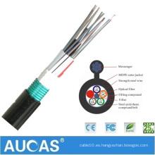 Hecho por el buen cable GYXTC8Y 4 de los productos de Aucas buen cable de fibra óptica multimodo al aire libre de aluminio trenzado