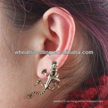 Punk Estilo Wall Gecko Ear Cuff Earrings Único clip de oído EC18