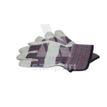 Голубые кожаные град/АБ/БК холст рабочие перчатки безопасности