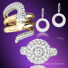 Кольцо ювелирных изделий способа золота 18k / серебр 925 серебряное