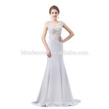 Vestido de noche moldeado de la sirena larga al por mayor de lujo para casarse