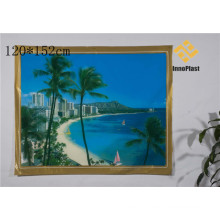 PVC Printed Landscape Transparent Table Cloth